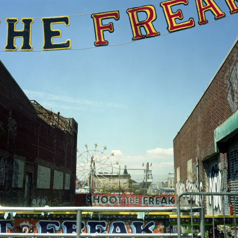 Shoot the Freak  , from the  Tickets to Dreamland  series.  20x20 Chromogenic print.  Limited Edition 3/10