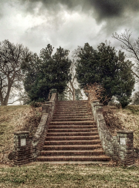 George School grounds ('Stairs to Nowhere')      Newtown, Pennsylvania, December 2014  ©Diana H. Bloomfield