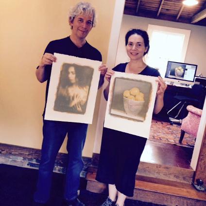 Ken & Rochelle, in the studio. May 2015