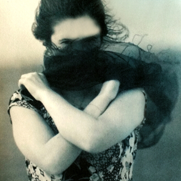 Veiled Woman (cyanotype over pt/pd) ©DH Bloomfield 2016