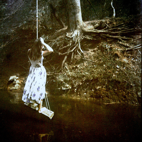 GIRL ON A SWING.    From  Figurative  series; tri-color gum bichromate. Limited Edition 5/10