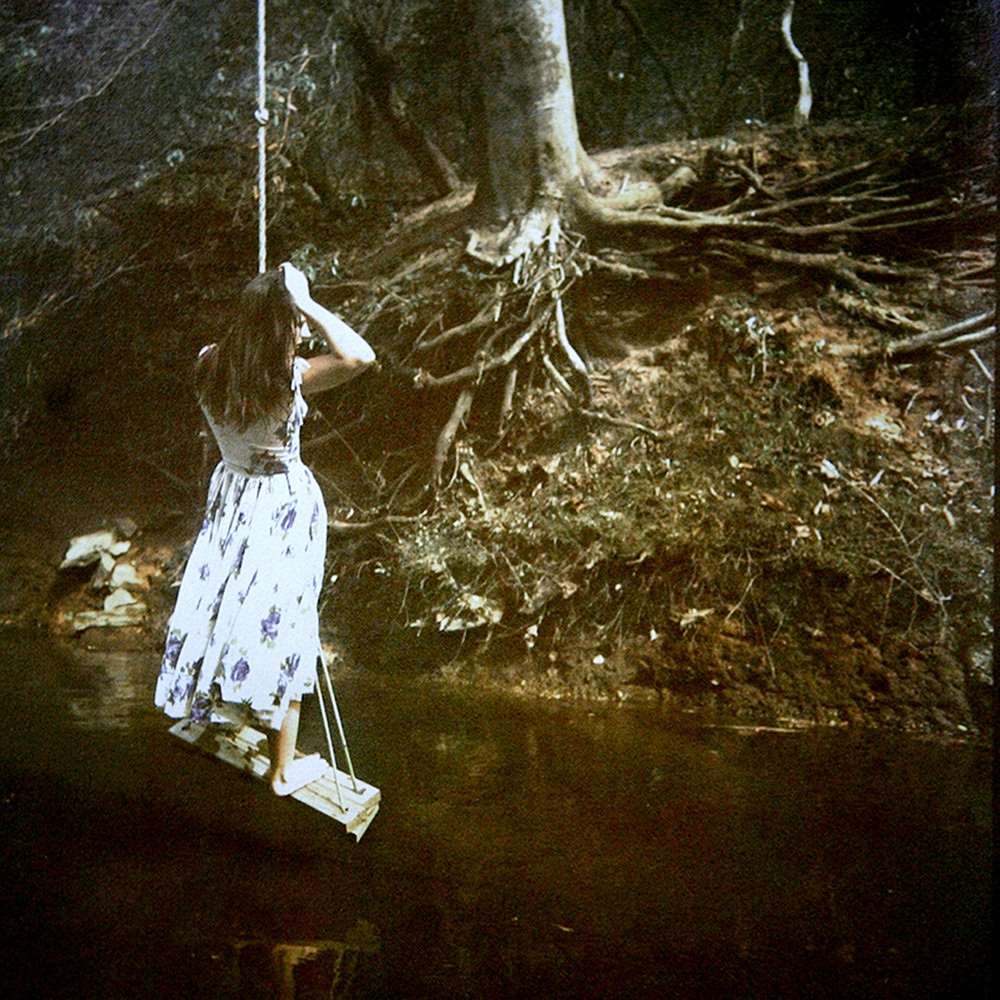 Girl on a Swing  (Tri-color gum bichromate print) ©Diana H. Bloomfield