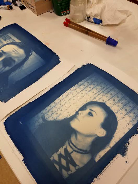 Image and print ©Madeline Jones; Light Factory gum bichromate workshop, June 2016