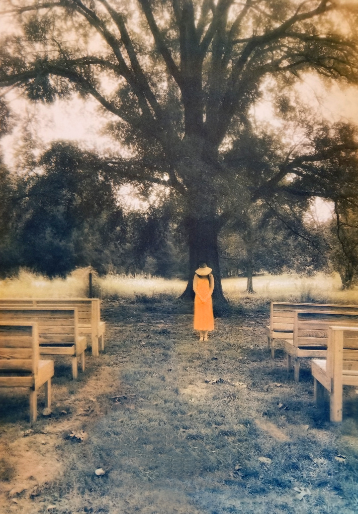At Whiskey Bonding Barn, Molena (Tri-color gum bichromate print) ©Diana H. Bloomfield 2017