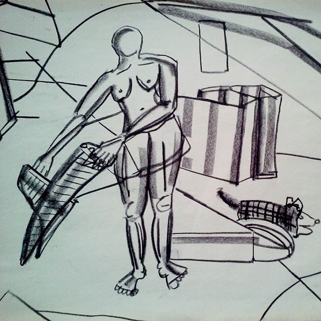 Privacy Series 2016 #harrietpoznansky #fineart #drawing #contemporarypainting #oakland #thekoppelproject #nomadicpress #viscera #monochromatic #nude #lifedrawing #clothes #public #private
