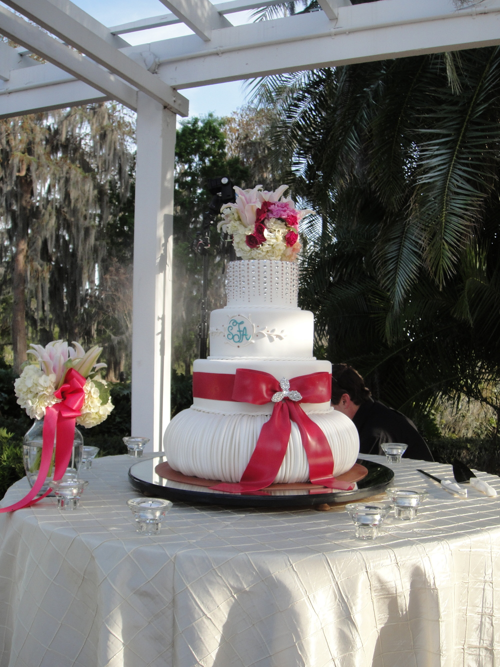 Cypress Grove Wedding Cake