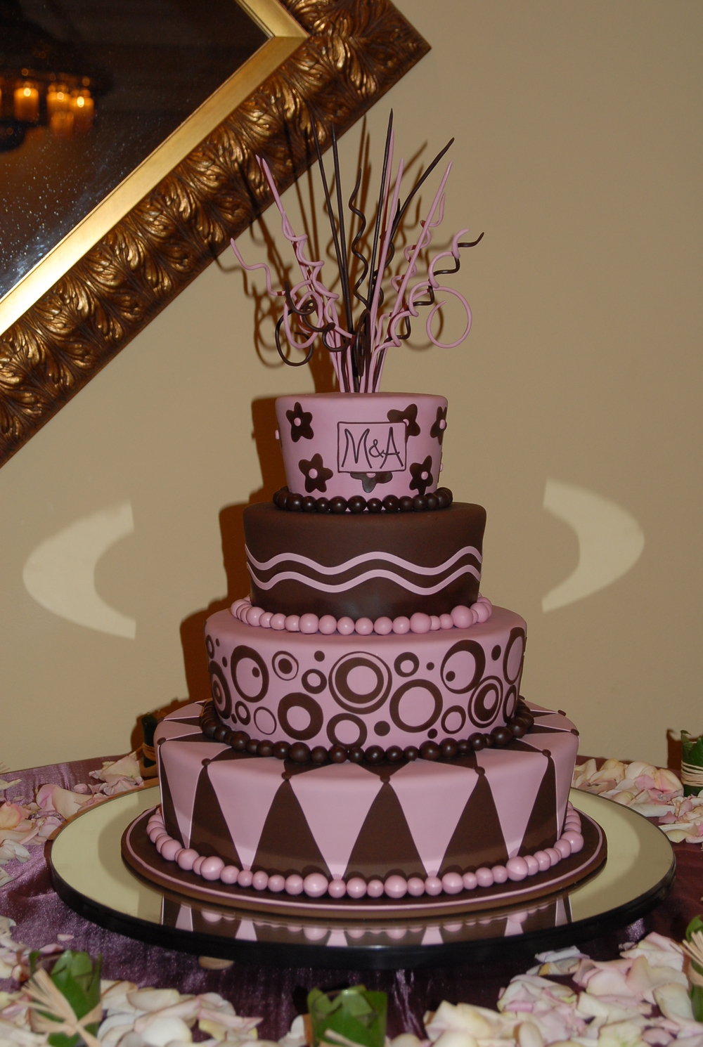 Artsy Wedding Cake