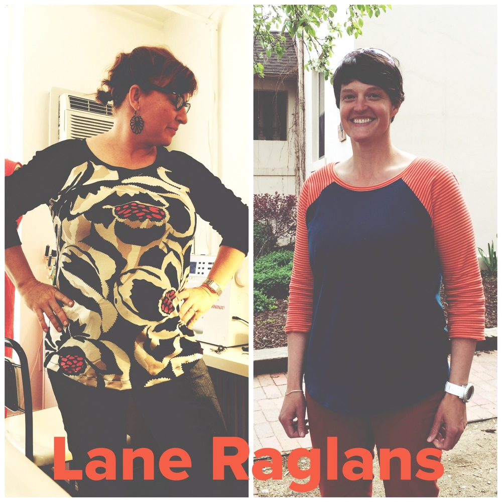 Lane Raglans! Mine on the left & Jen's on the right.