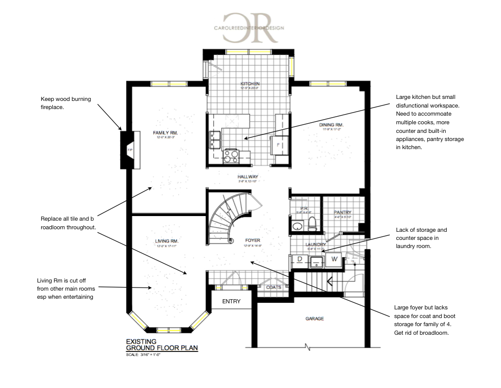 Floor Plan - Before | Carol Reed Interior Design Inc.