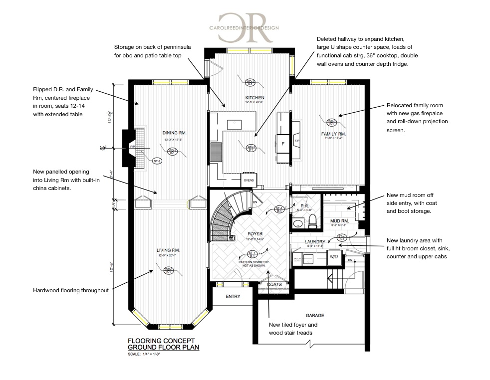 Floor Plan - After | Carol Reed Interior Design Inc.