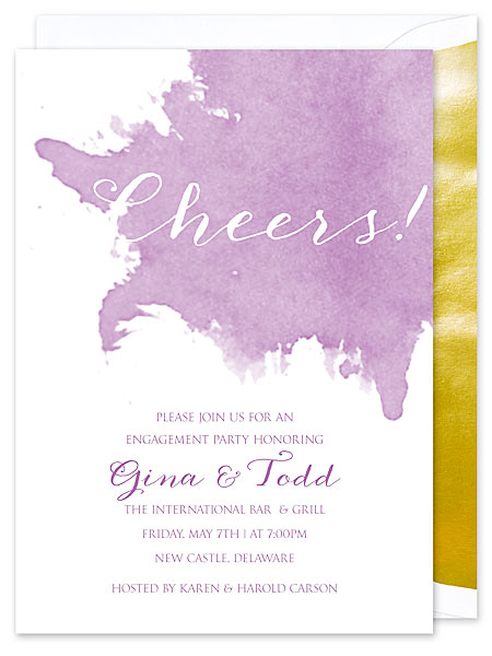 Orchid Watercolor Invitation