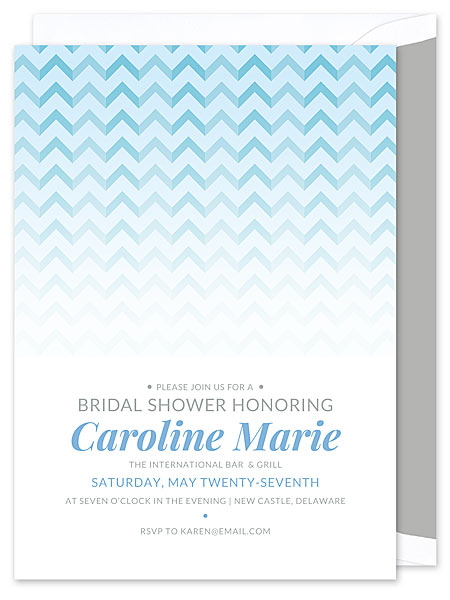 Sky Chevron Invitation