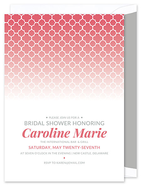 Quatrefoil Invitation