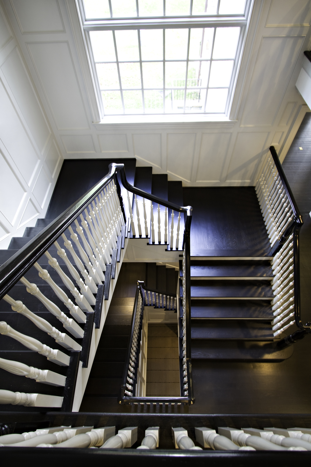 Custom staircase in Bethesda, Maryland