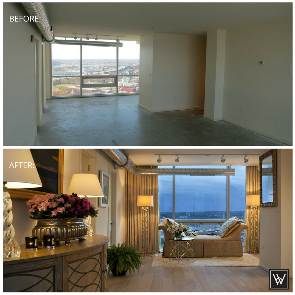 Baltimore Penthouse Interior Before and After Brad Weesner Design