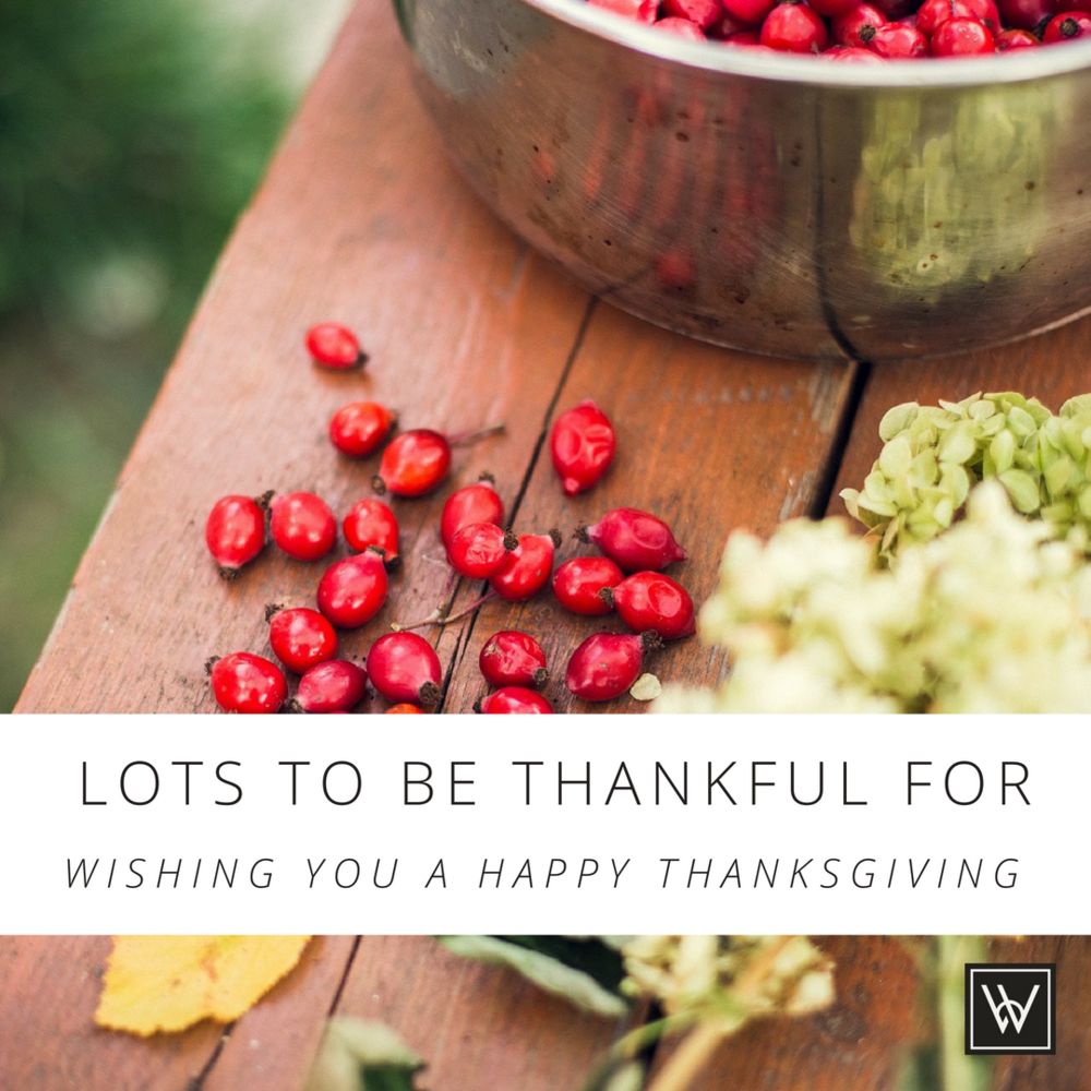 Lots to be thankful for. Wishing you a Happy Thanksgiving.