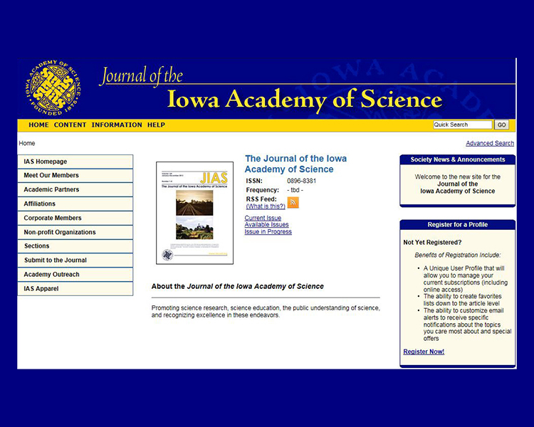 Journal of the Iowa Academy of Science