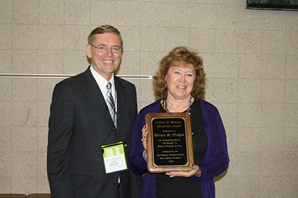 2015 Individual Friend of Science Award was presented to Doreen Hayek.