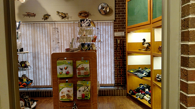 A corner of the Visitor Center Gift Shop