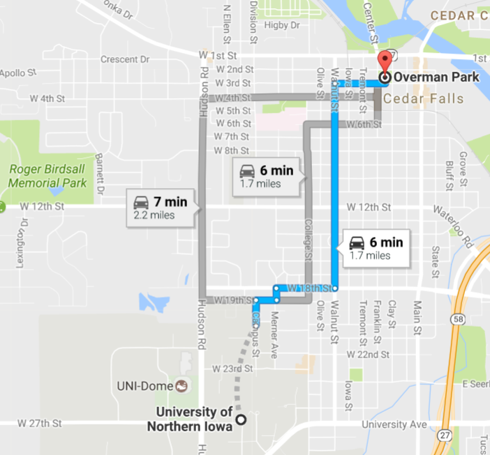 Northern Iowa Campus Map.Announcement Iowa Academy Of Science