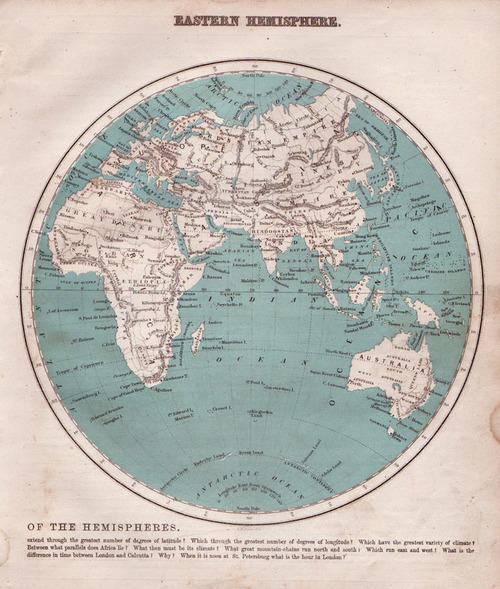 Ivison, Blakeman & Taylor 1883 Antique Map of the Eastern Hemisphere ...