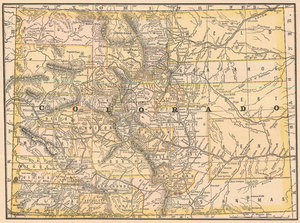 Colorado Real Old Art Authentic Affordable Old Antique Maps Prints - Antique looking maps