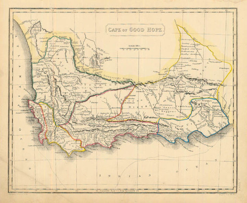 Arrowsmith 1836 Antique Map of the Cape of Good Hope — Real Old Art ...