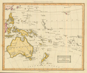 Antique Australia New Zealand Maps Real Old Art Authentic
