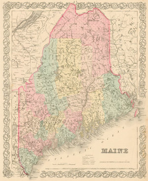 Maine Real Old Art Authentic Affordable Old Antique Maps Prints - Antique map of maine