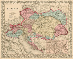 Antique Germany, Prussia, Austria Maps — Real Old Art - Authentic ...