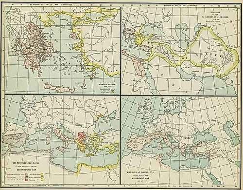 Cram 1892 Antique Maps of Ancient Mediterranean Civilizations — Real ...
