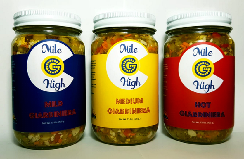 From left to right, Mild Giardiniera, Medium Giardiniera (NEW!!!), and Hot Giardiniera