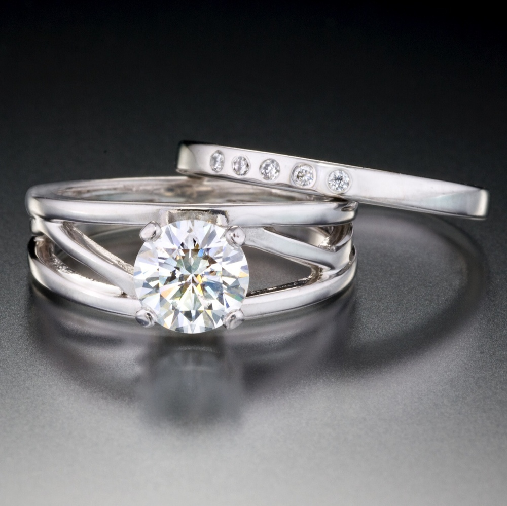 engagement wedding ring set