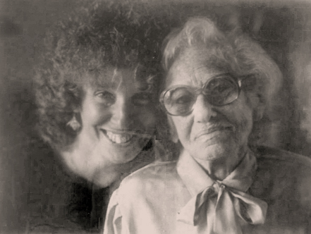 The author and her Aunt Honey in 1982, when Honey was 86 years old.