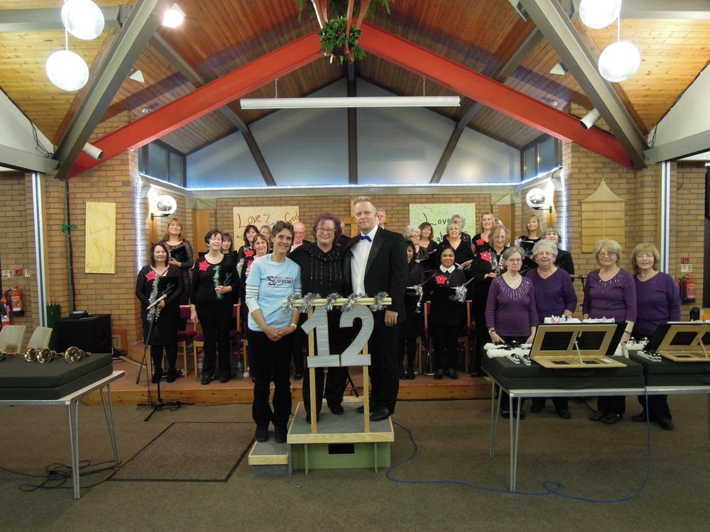 Event 12: Our Christmas Concert at the Church of Christ the King, Bradley Stoke with guests the Barn Ringers and guest speaker Julie from our nominated charity Brain Tumour Support