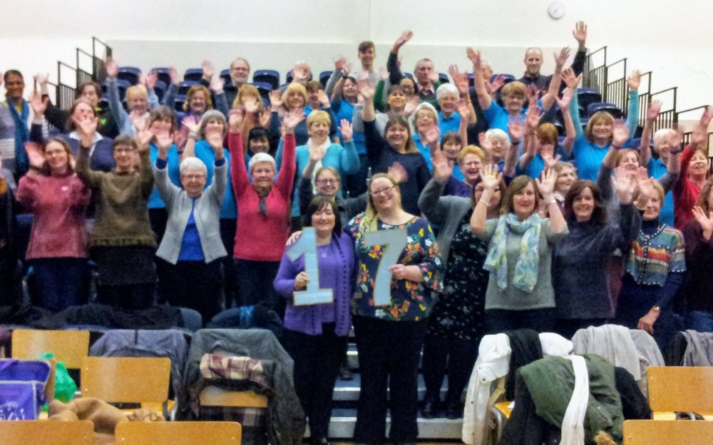 Event 17: Singing together with Bradley Stoke Community Singers at a Tuesday rehearsal in March