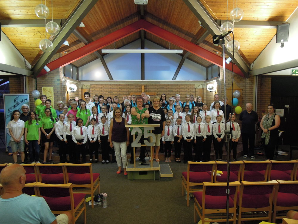 Event 25: The final event in our Sing 25 Challenge was our Summer Concert 'It's Our Party' when we were joined by the Red Tie Choir from Little Stoke Primary School and Steel Storm from Castle School, Thornbury.