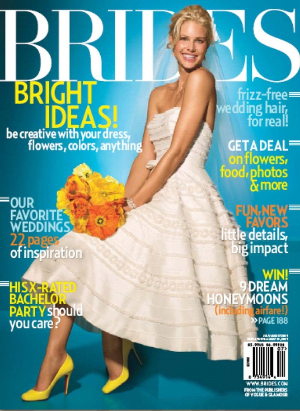 Brides get a free year's subscription to the quarterly magazine,  Brides,  beginning the quarter after the Expo.