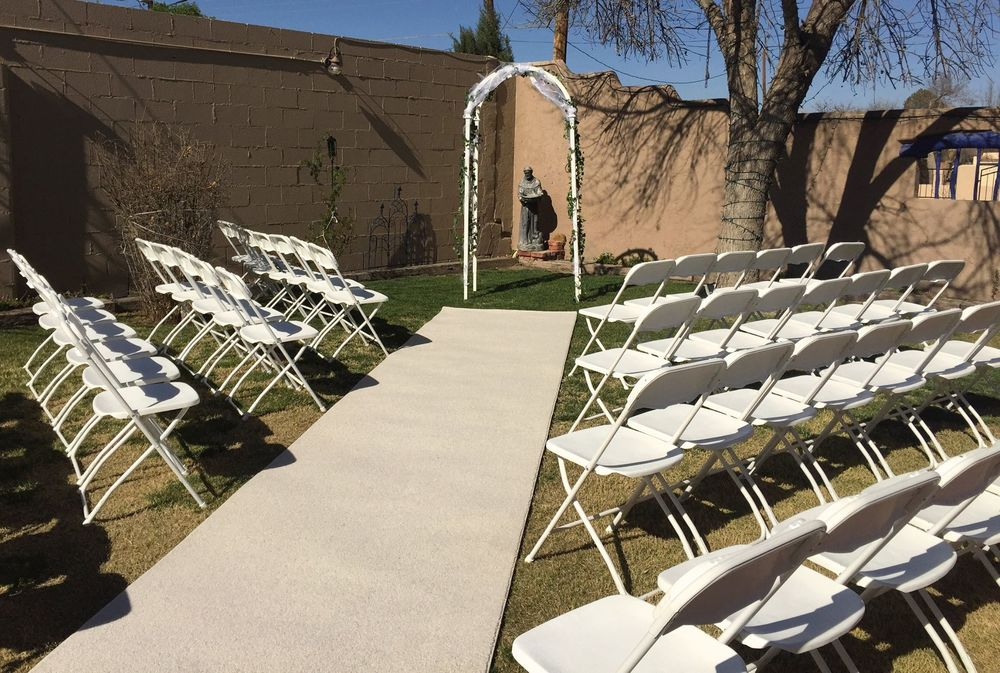 Las Cruces ceremony chair rentals