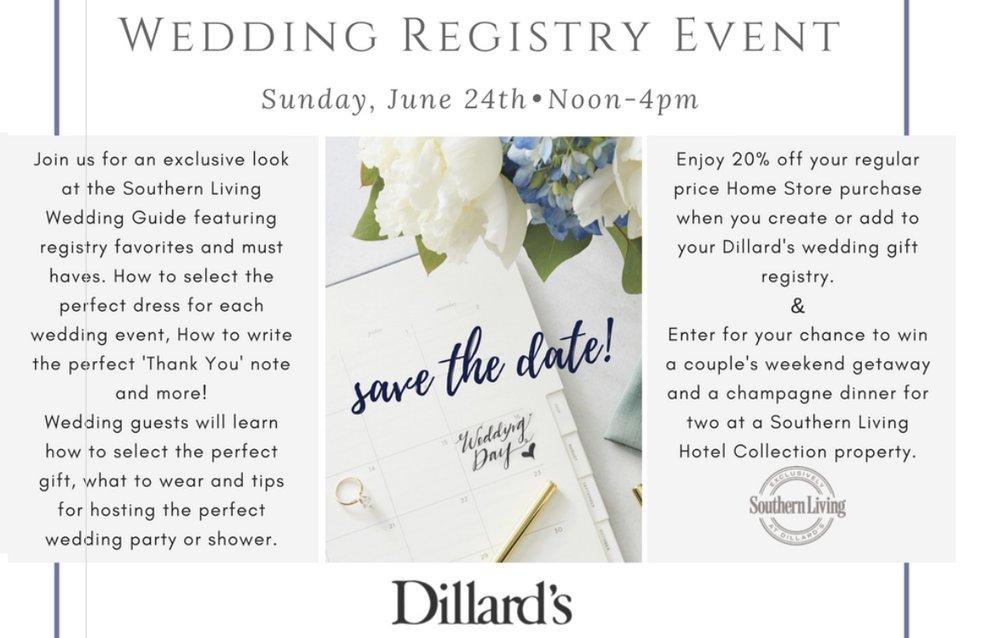 Dillard's at Winrock Mall's registry event