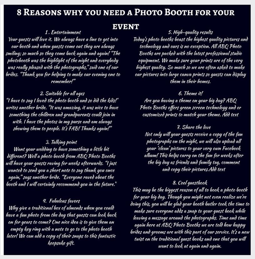 why you need a photo booth