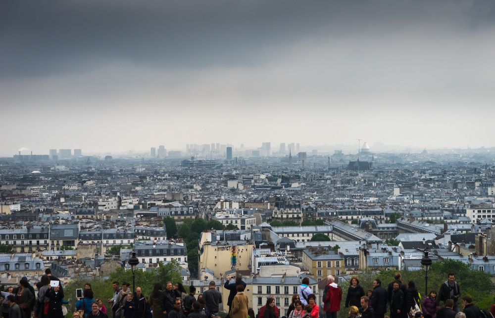 Misty Paris from Sacre Coeur