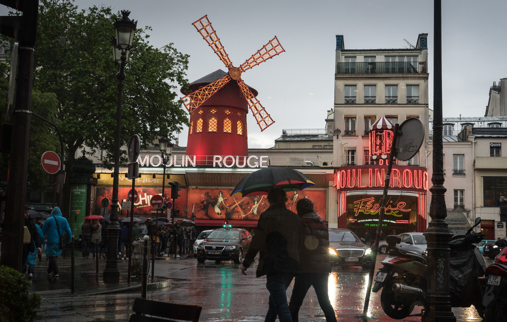 Rain at Moulin Rouge