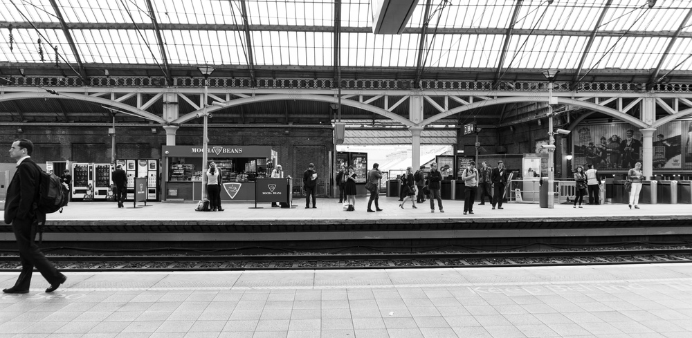 Waiting at the station