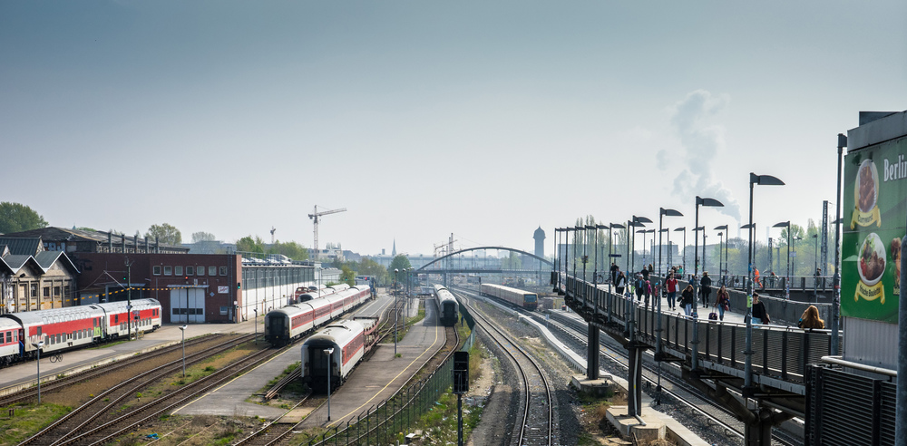 Train station at Warschauer Strasse on Ethan's journey through Berlin