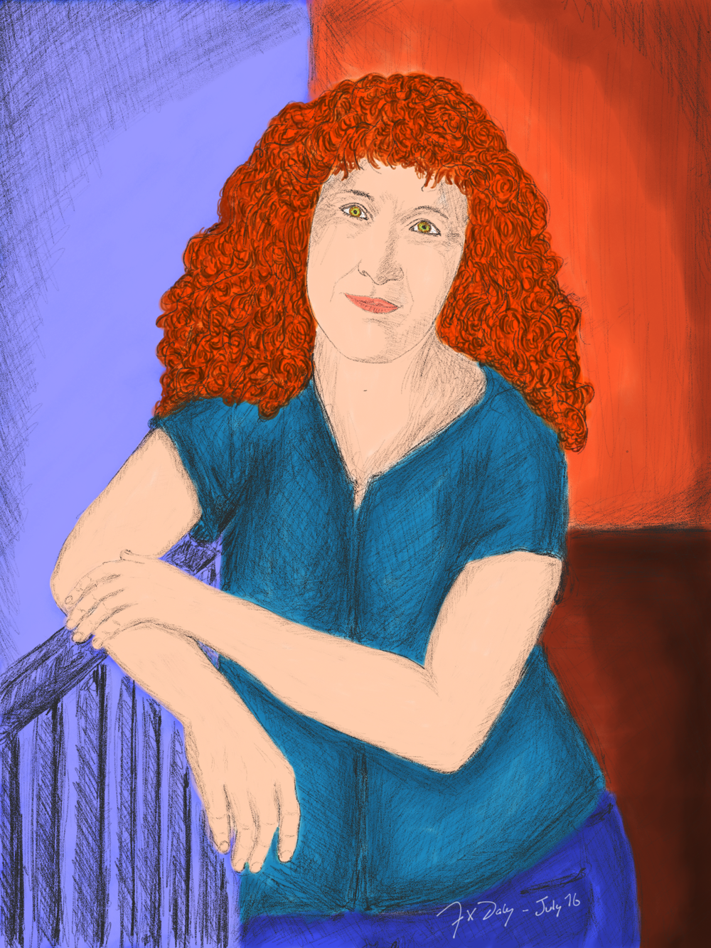 Girl with the Curly Red Hair