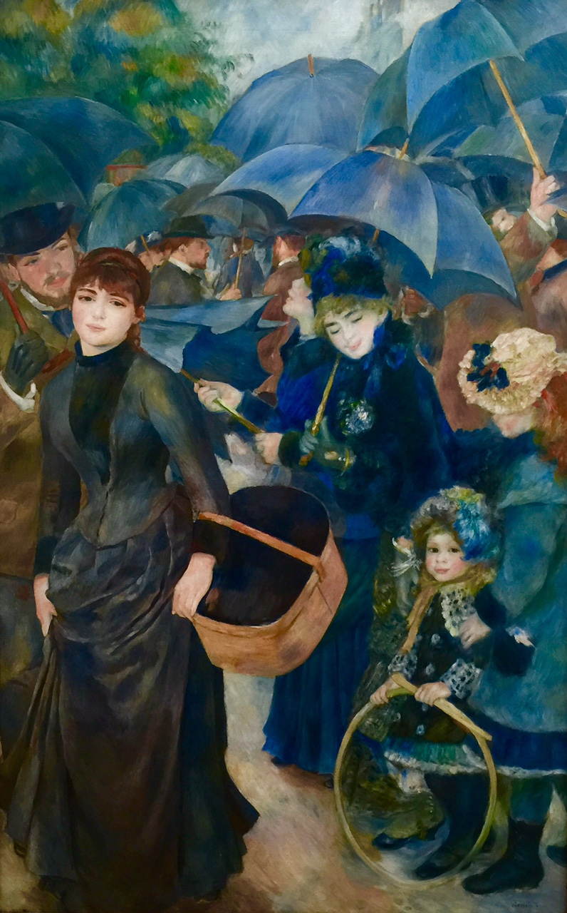 """La Parapluies"" by Renoir   in the Hugh Lane Gallery"