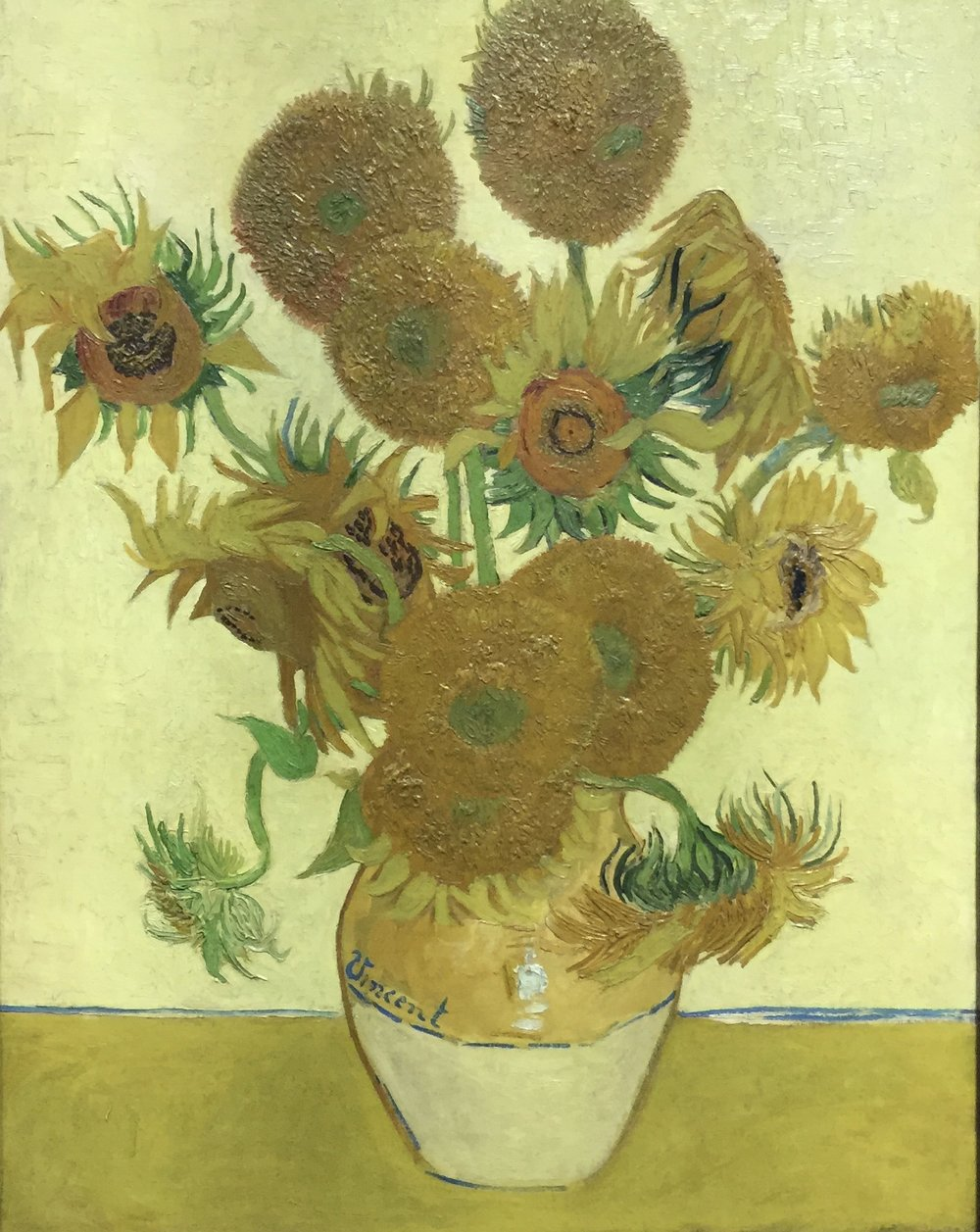 Van Gogh's Sunflowers in the National Gallery, London