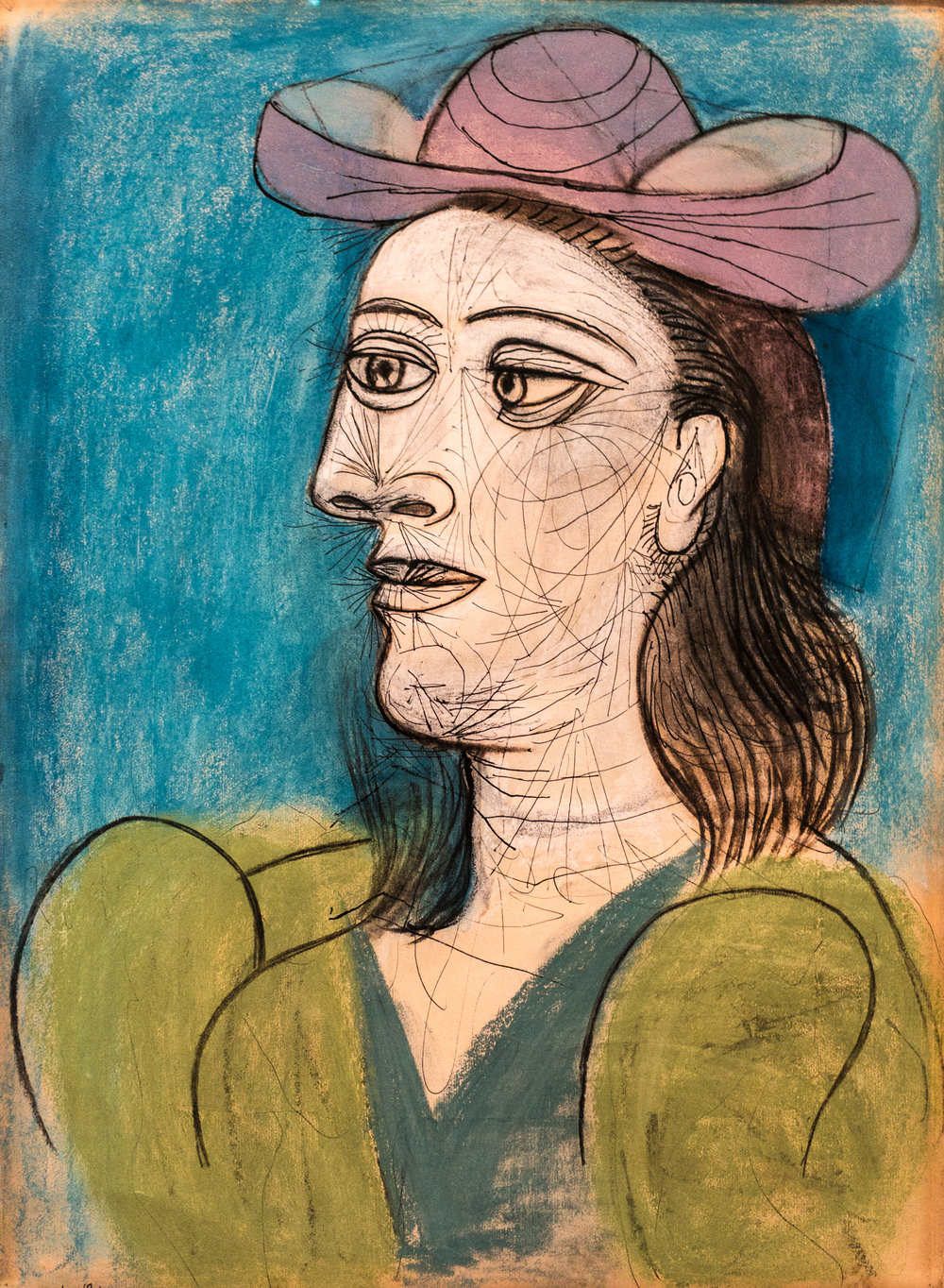 "Picasso's original ""Woman with a hat"""