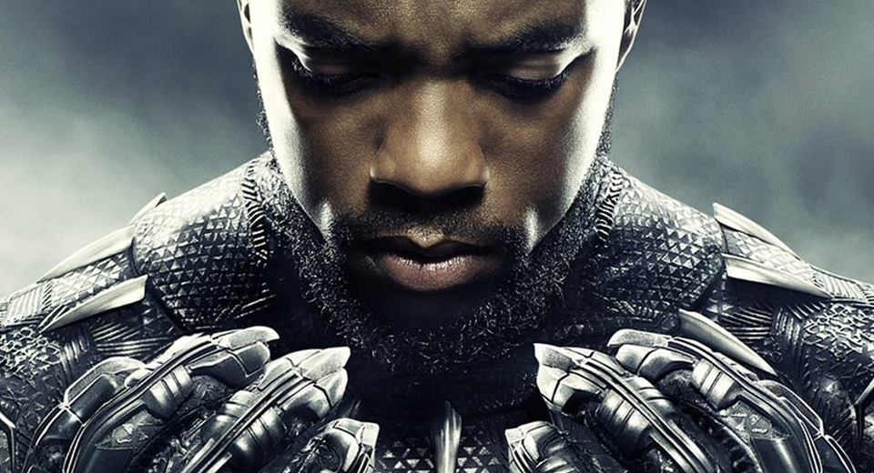 Poster image of Chadwick Boseman who plays the T'Challa, the Black Panther